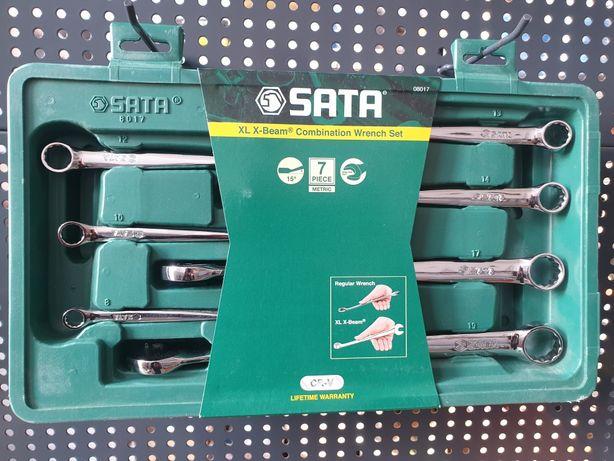 Zestaw 7 kluczy płasko-oczkowych XL X-BEAM Firmy SATA Dożywotnia Gwara