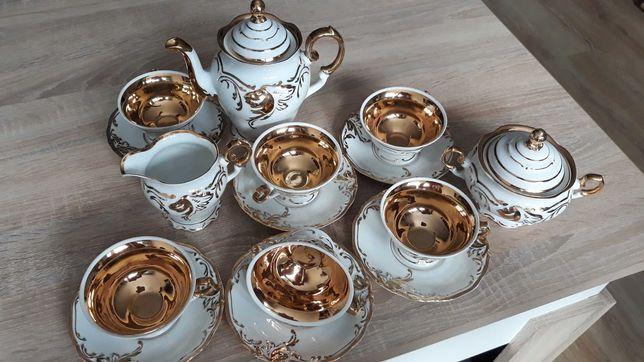 Serwis kawowy Złoty Liść
