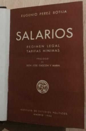 salarios, eugenio perez botija, decicatória do autor a Salazar