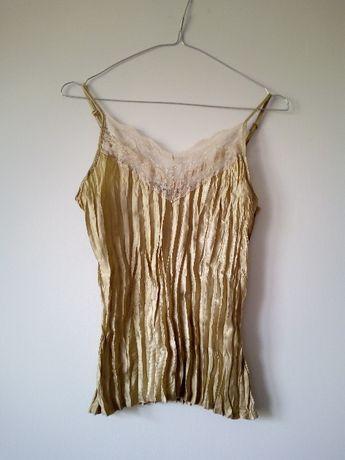 złota koszulka nocna na ramiączkach rozmiar M-L atnosphere