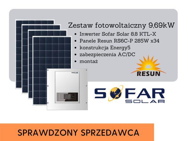 Elektrownia słoneczna 9,69 kW fotowoltaika Sofar Solar