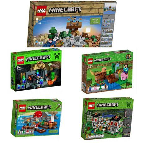 Lego minecraft 13 zestawów OPIS/ Zamienię.