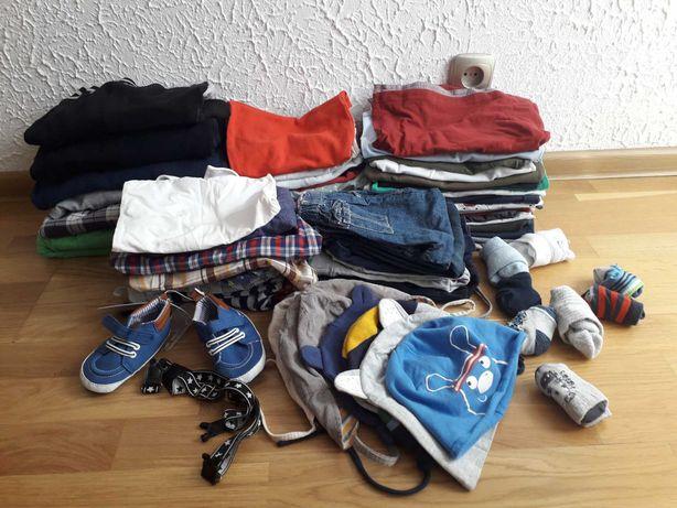 Mega paka ubranek dla chlopc 86 92  kurtka spodnie koszulki