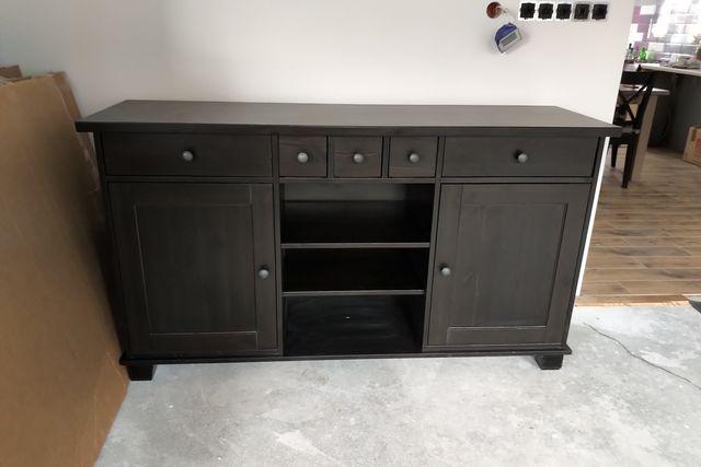 Ikea - kredens czarno-brązowy