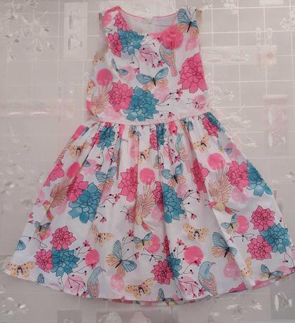 Sukienka  w kwiaty Cool Club Smyk rozmiar 128