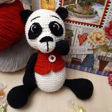 Игрушка/панда крючком/игрушки ручной работы