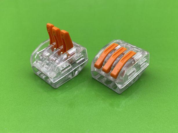 Клемма PCT-213T (100шт уп.), качественный аналог wago/ваго