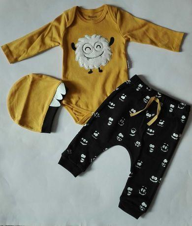 Bawełniany komplecik niemowlęcy dużo wzorów