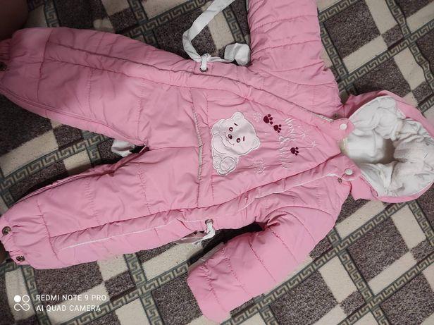 Продам детский комбинезон-трансформер зимний