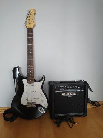 Gitara elektryczna Behringer + wzmacniacz Behringer GM-108 - jak NOWE