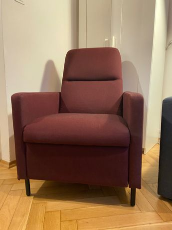 Fotel GISTAD IKEA bordowy