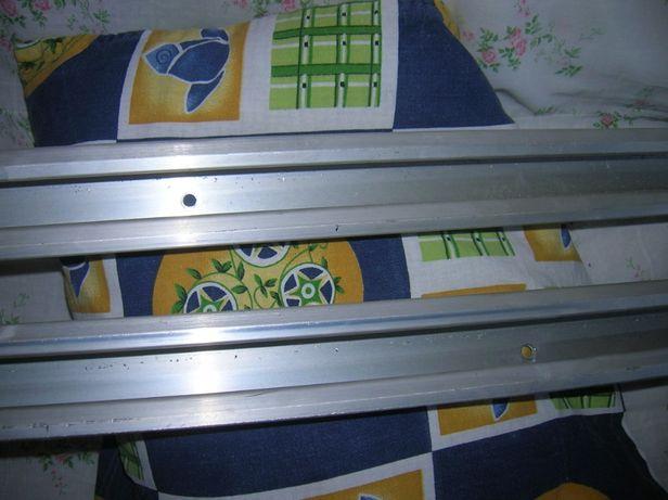Планки 2шт. алюминиев. 146 см двойные опорные для растений