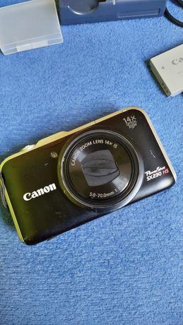 Aparat kompaktowy Canon 230SX HS + dwie baterie
