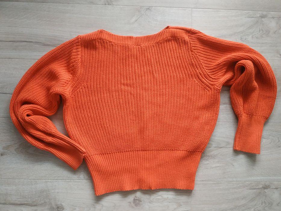 Pomarańczowy sweter nietoperz rozmiar S Poznań - image 1