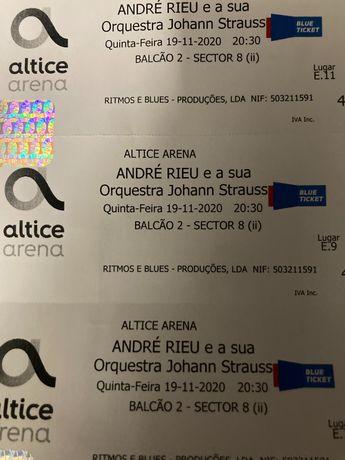 Bilhetes André Rieu 2021