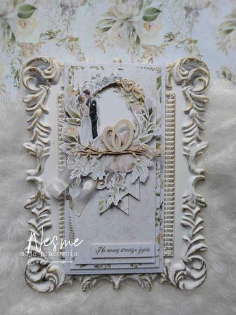 Kartka na ślub, kartka z okazji ślubu, kartka okolicznościowa