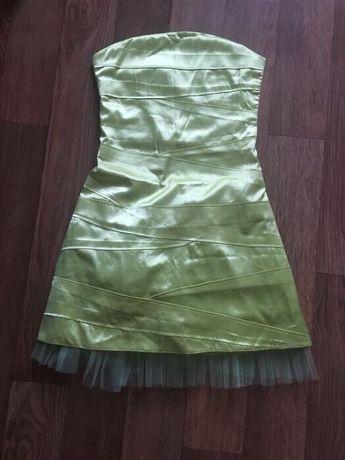 Платье лимонное шёлковое