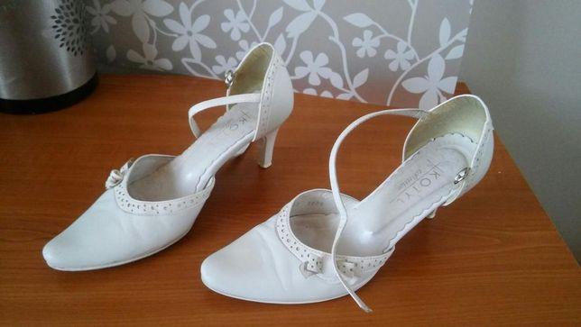 Buty skórzane na ślub, wesele rozmiar 35