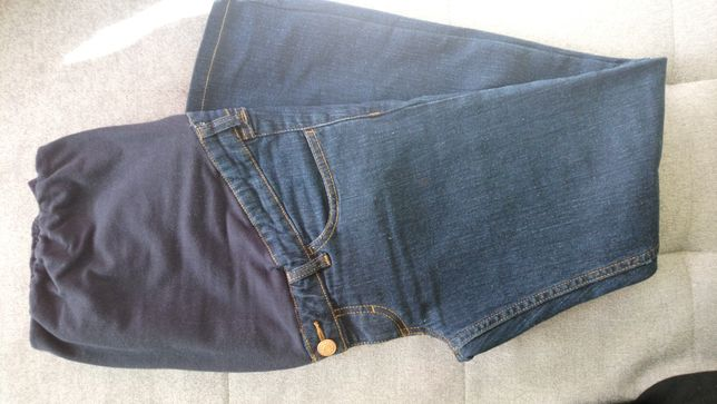 Jeansy ciążowe h&m r.42 jak nowe plus gratis