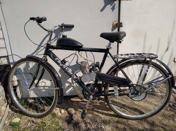 Веломопед велосипед с двигателем мопед