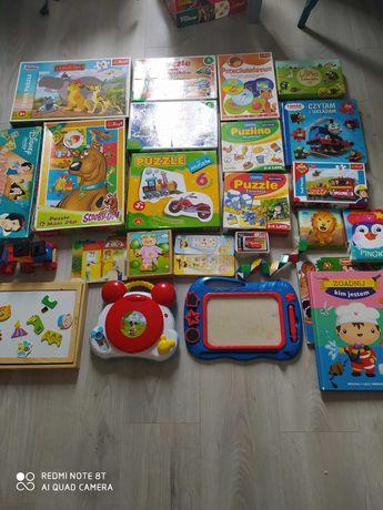 Puzzle, gry edukacyjne, zabawki elektroniczne, ukladanki