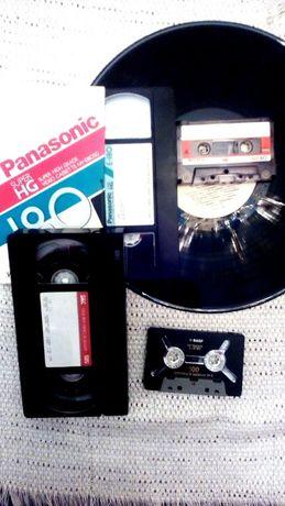 Видеокассеты VHS оцифровка аудиокассет , виниловых пластинок