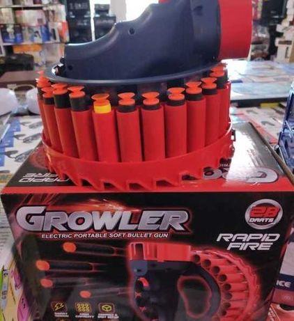 детский автомат - Патронный барабан, бластер оружие, Growler, пулемет