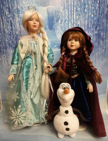 Куклы фарфоровые коллекционные интерьерные. Пара - Анна и Эльза.