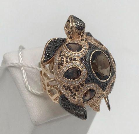 """Кольцо """"Черепаха"""", золото 585 пробы"""