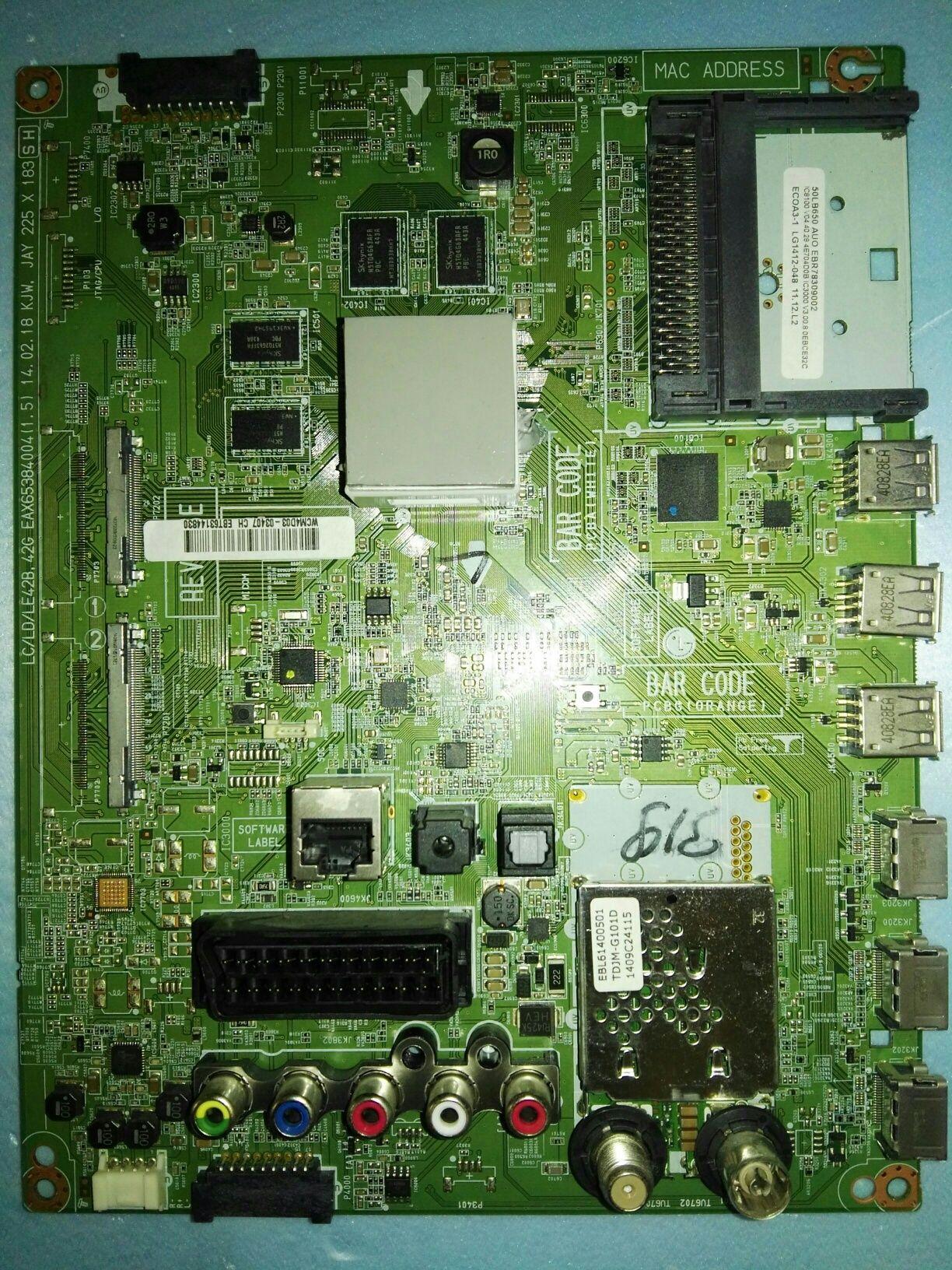 Mainboard smart tv LG 50lb650v