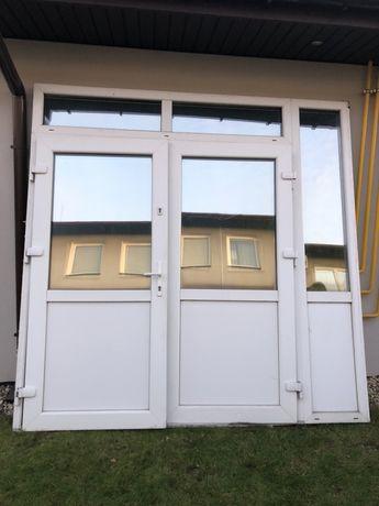 Drzwi balkonowe 2 skrzydlowe 250x250 lustro