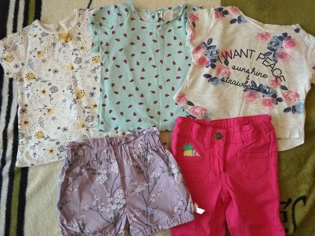 Футболка, шорты, штаны,вещи на девочку 12/24m h&m lupilu