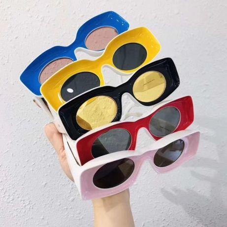 солнцезащитные очки в стиле ретро разноцветные женские мужские унисекс