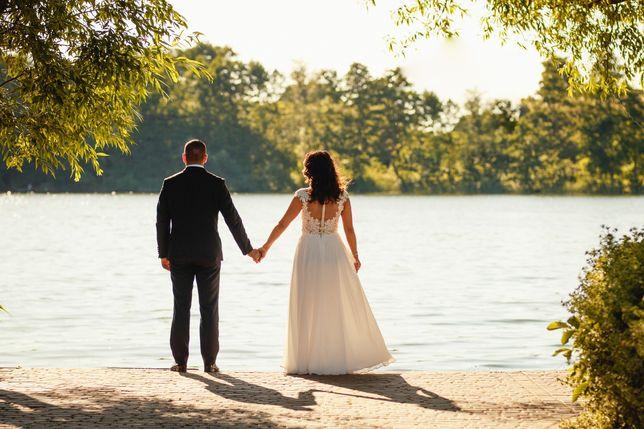 Suknia ślubna, lekka, zwiewna