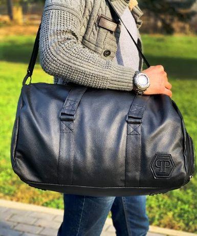 Стильная дорожная сумка для ручной клади из эко-кожи