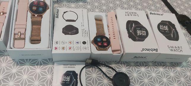 Novo-Bebinca Smartwatch Bluetooth5.0 Monitor de freqüência cardíaca