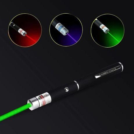 Laser Pointer Wskaźnik Laserowy 5mW 1000m Zielony Fioletowy Czerwony