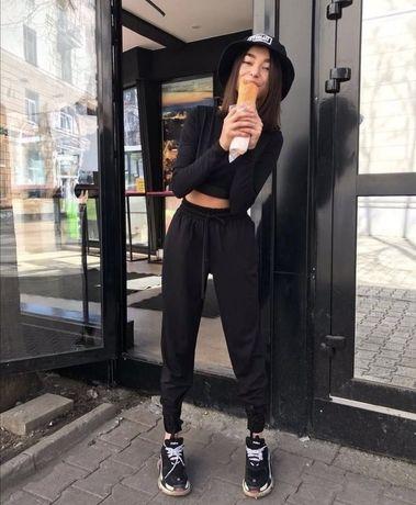 Спортивные штаны женские штани жіночі черные