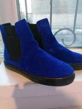 Ботиночки, натуральная замша