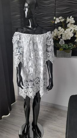 Sukienka damska z gipiury