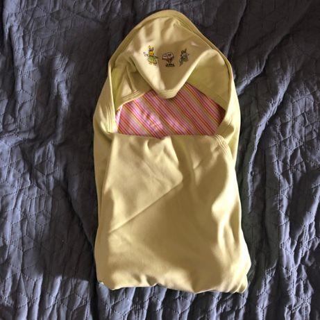 Детское одеяльце для новорожденных (двойное) ufaklik + 1 белое