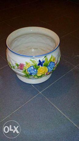 Vaso decorativo em louca