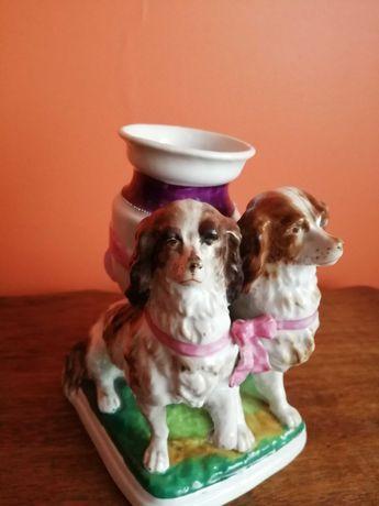 Antyk-Staffordshire - Porcelana - Psy
