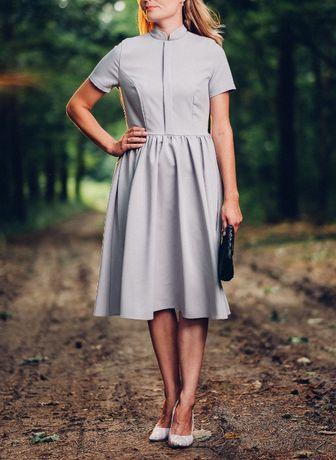Nowa sukienka midi z metkami, rozm. XS - LIKWIDACJA SKLEPU