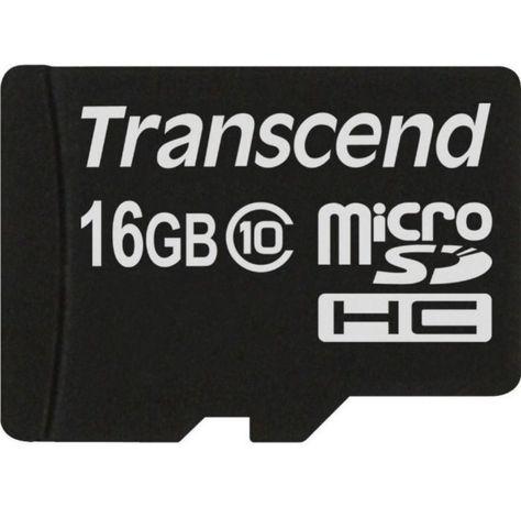 MicroSDHC Transcend 16gb | 2 штуки |