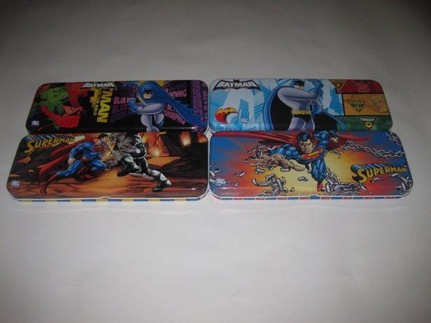 4 Estojos de Metal/Super Homem/Batman/Novos!