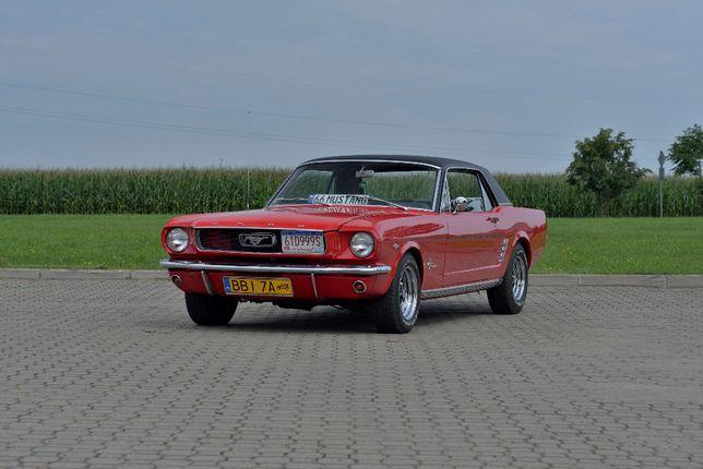 Mustangiem do slubu.Auto do slubu.