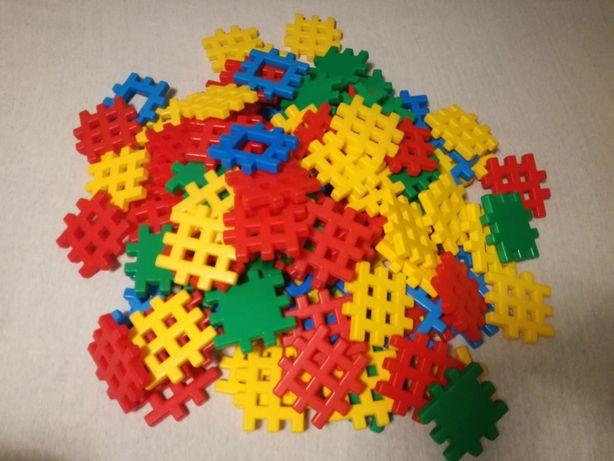 Klocki konstrukcyjne wafle 120 elementów