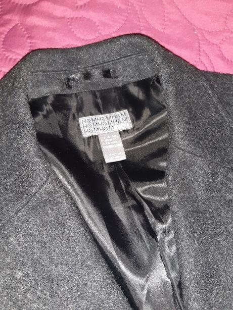 Мужское Пальто H&M серое,50