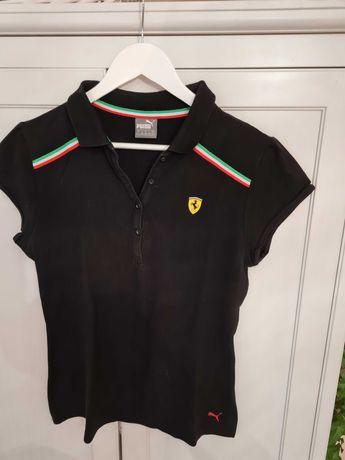 Komplet Puma Ferrari - koszulka polo + bluza   , rozmiar L , czarny